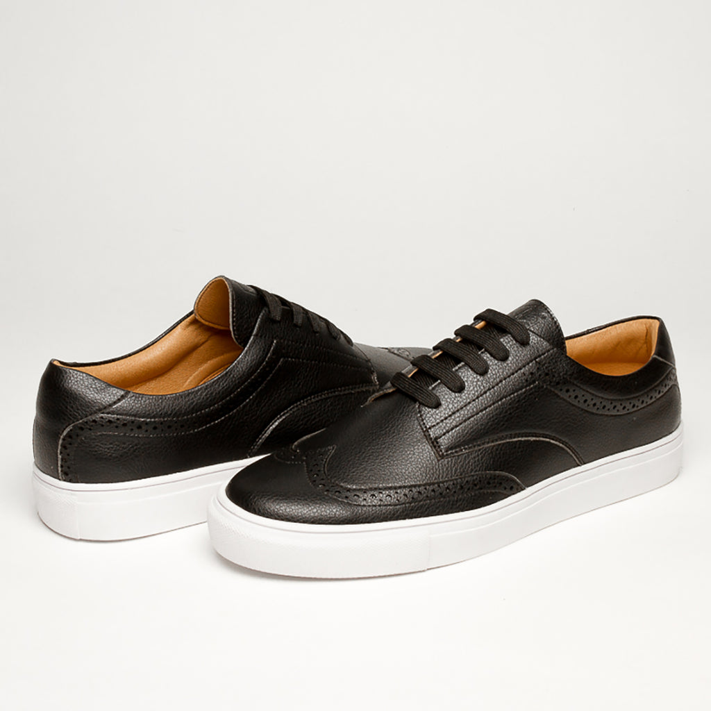 LUXURY BLACK VEGAN  KRYPTON SNEAKERS