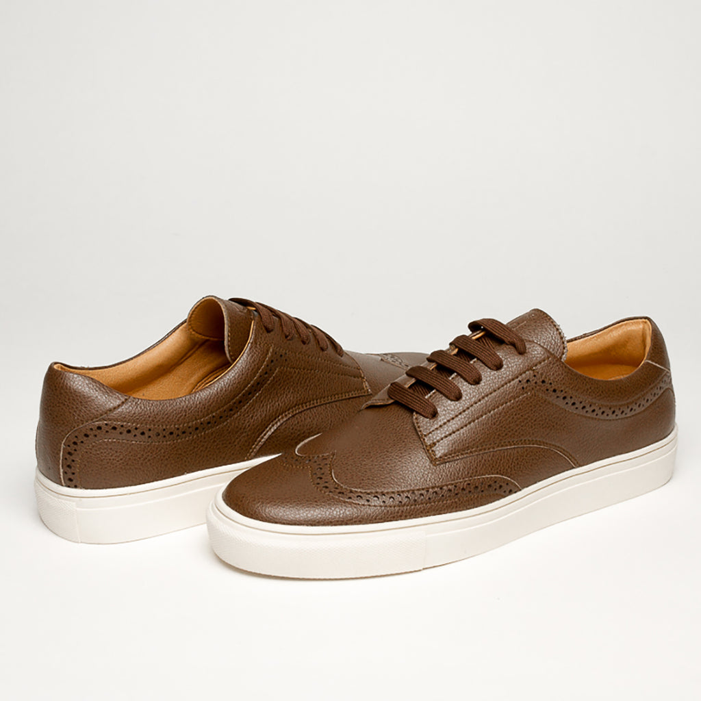 LUXURY BROWN VEGAN KRYPTON SNEAKERS