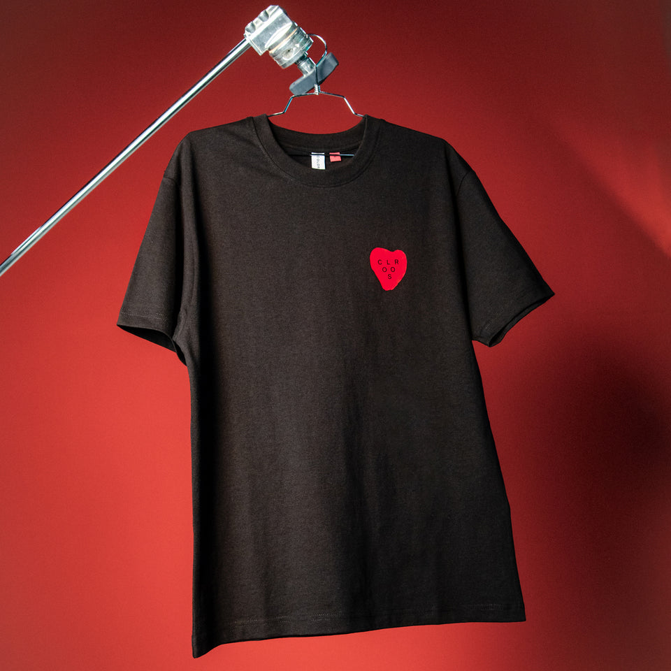 """HEART"" SHIRT BLACK"