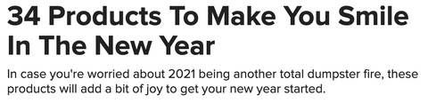 BuzzFeed's top products to make you smile in the new year
