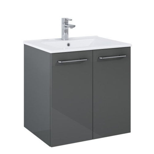 Otto Plus Gloss Grey 60 Vanity Unit