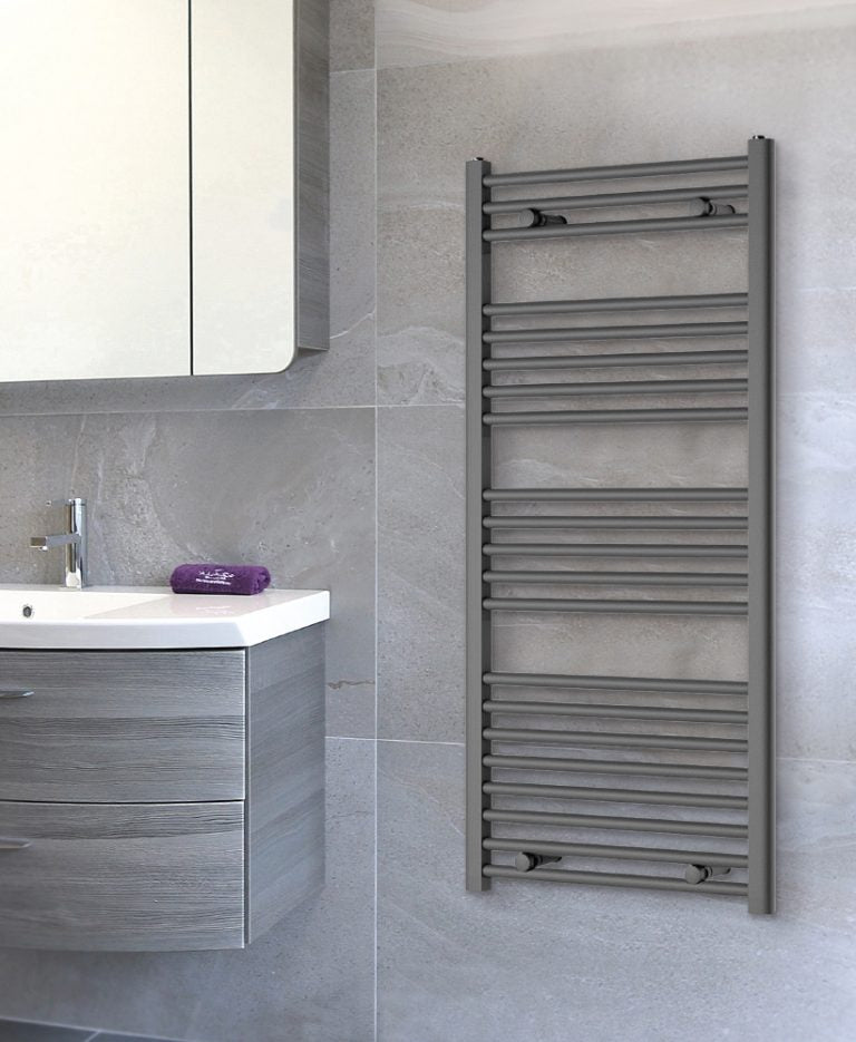 Luca Anthracite Heated Towel Rail