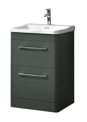 Ava 600mm Floor Standing Unit & Basin Anthracite