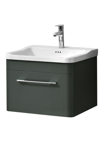 Ava 600mm Wall Hung Unit & Basin Anthracite
