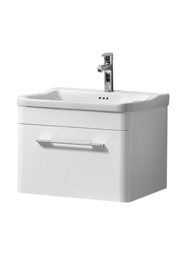 Ava 600mm Wall Hung Unit And Basin White