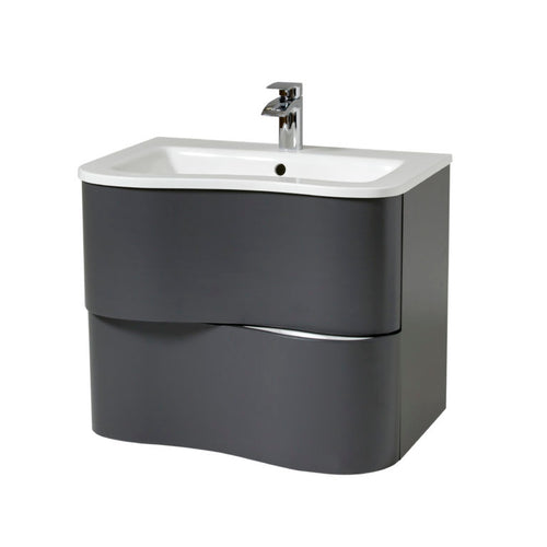 Bella 650mm Wall Hung Unit And Basin Dusk