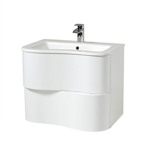 Bella 800mm Wall Hung Unit And Basin White