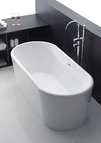 Apollo Free-Standing Bath White
