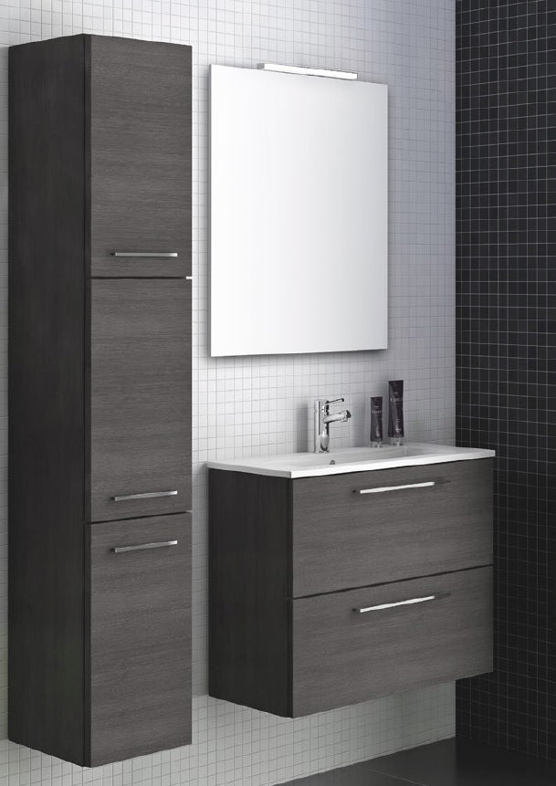 Piccollo Black Oak Wall Hung Vanity Unit 60cm