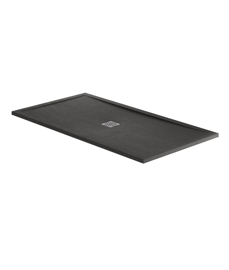 Black Slate Rectangular Shower Trays