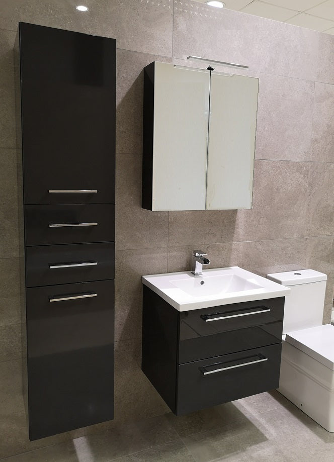 Seville Anthracite Wall Hung Vanity Unity 60cm