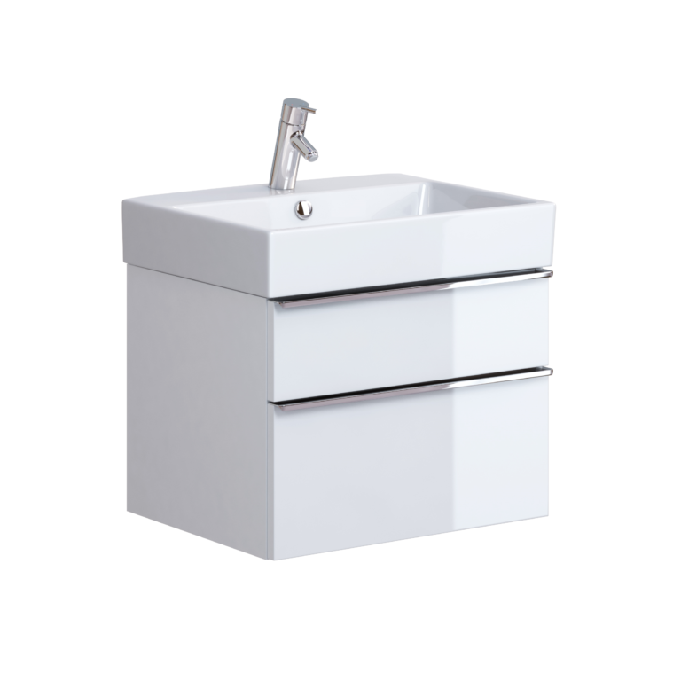 Metropolitan 600mm Unit & Basin White