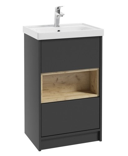 Malta 50cm Matt Graphite Vanity Unit & Basin