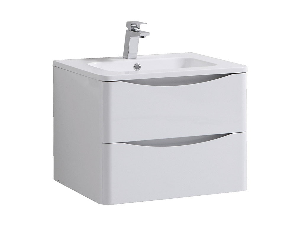 Sofia White Wall Hung Vanity Unit 60cm