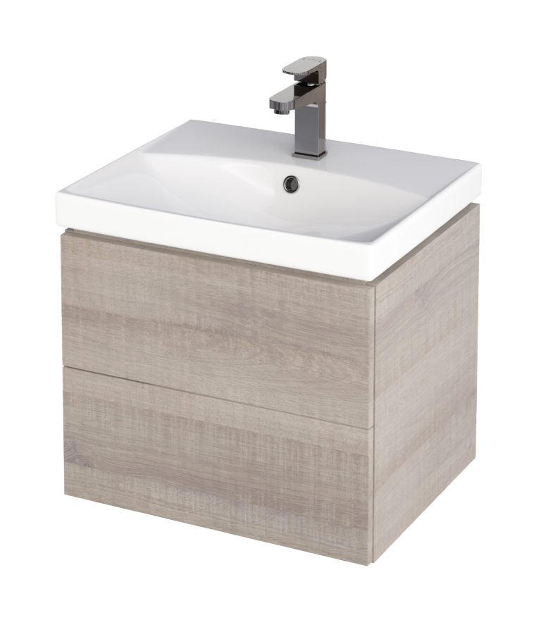 Citi 700mm Unit & Basin Grey Oak