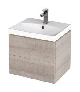 Citi 600mm Unit & Basin Grey Oak