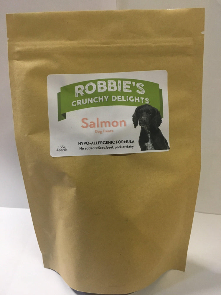 Robbie's Crunchy Delights salmon - Land of Holistic Pets