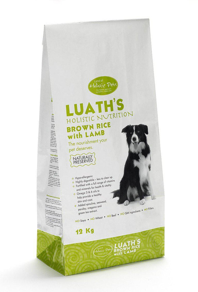 Luath's Lamb and Brown Rice Dog Food - Land of Holistic Pets