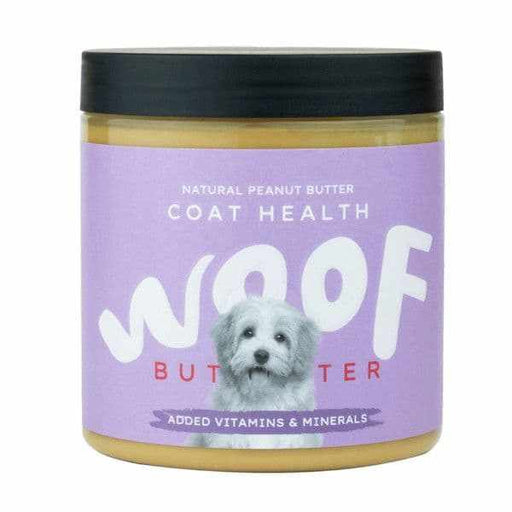 Woof Natural Peanut Butter for Dogs - Coat Health - Land of Holistic Pets