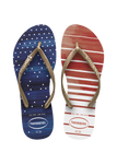 slim usa watercolor sandal