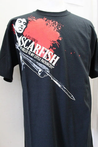 "AQUASMITH T-shirt SCARFISH ""SAY HELLO TO MY LITTLE PACHINCO"" Size S"