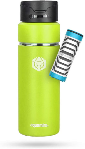 Aquamira SHIFT 24oz Filter Bottle (Citrus) - BLU