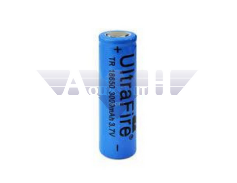 3.7V 18650 3000mah Rechargeable Li-ion Flat Top Battery