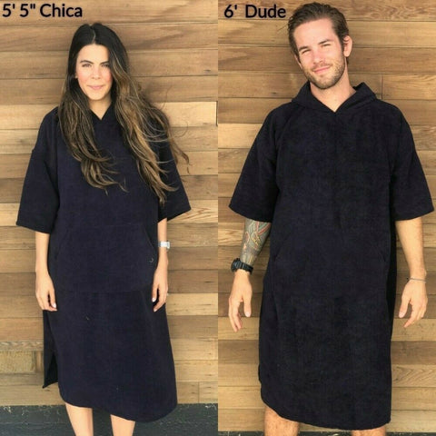 Changing Towel Robe with Hood & Pocket Quick Dry
