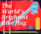 The World's Brightest Dive Flag