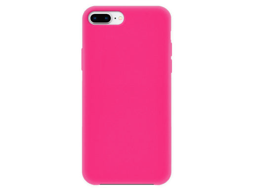 4-OK Velvet Touch iPhone 6P/6SP/7P/8P Flamingo Pink Back