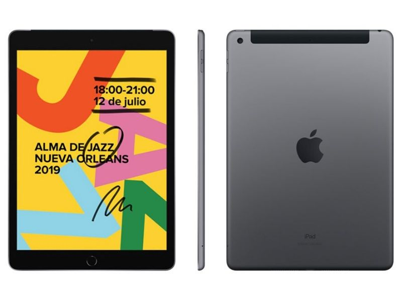 iPad (2019) 32GB Wifi + Cellular, Gris Espacial
