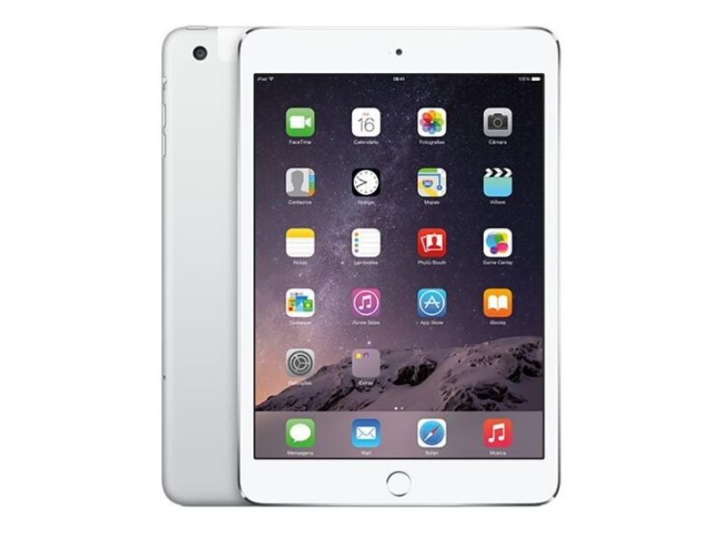 Apple iPad Mini 3 (16GB Wifi + Cellular) Plata