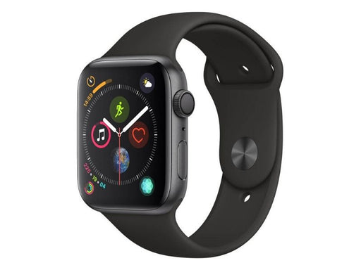 Apple Watch Series 4 GPS 44mm - caja de aluminio en gris espacial con correa deportiva negra