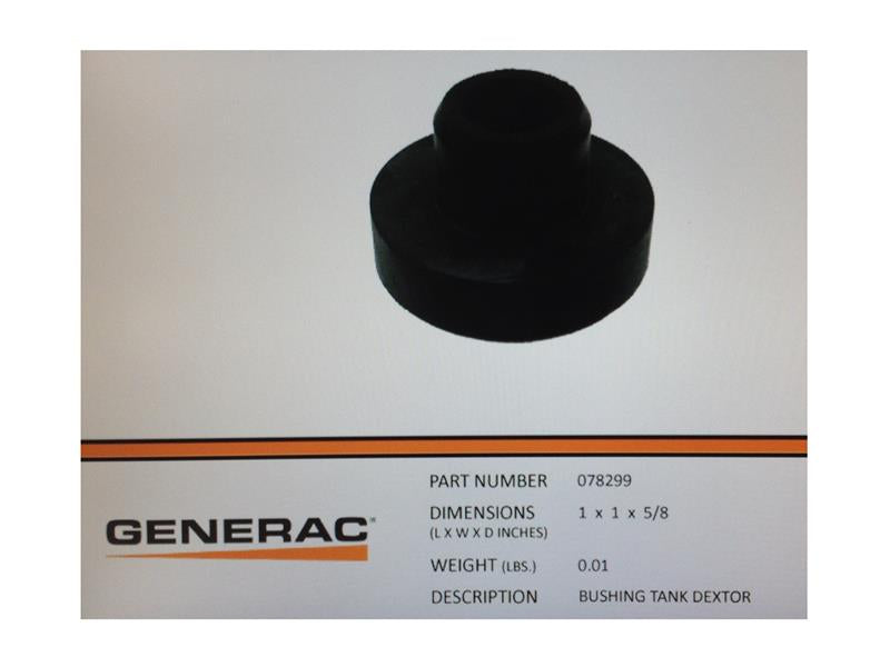 Generac Guardian 080269  / 078299 Fuel Tank Bushing