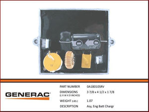 Generac 0A18010SRV  Engine Battery Charger Assembly