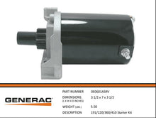 Load image into Gallery viewer, Generac Guardian OEM 0E0601ASRV 191/220/360/410 STARTER KIT
