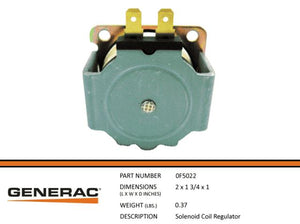 Generac SOLENOID COIL REGULATOR Part# 0F5022