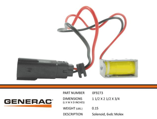 Generac Guardian 6VDC MOLEX SOLENOID   Part