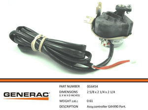 Generac Guardian 0G6454 STEPPER ASSEMBLY GTH990 PORT