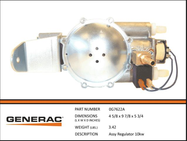 Generac ASSEMBLY REGULATOR 10KW 0G7622A......This product has been discontinued