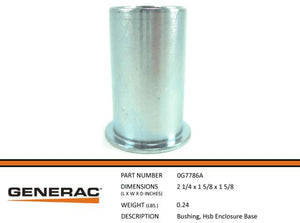 Generac BUSHING, HSB ENCLOSURE BASE  0G7786A