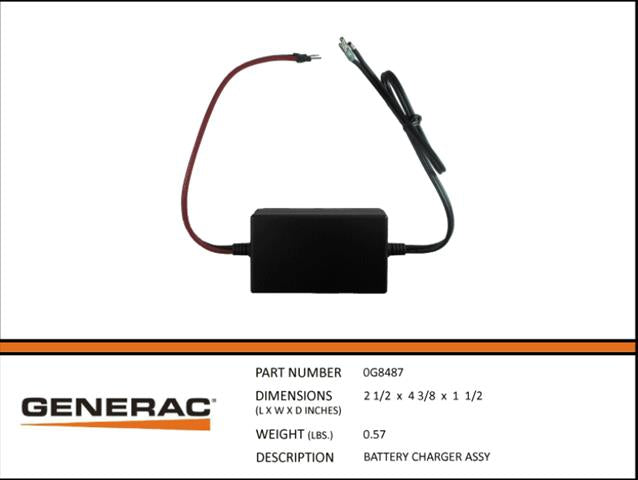 Generac Guardian  BATTERY CHARGER ASSEMBLY  0G8487