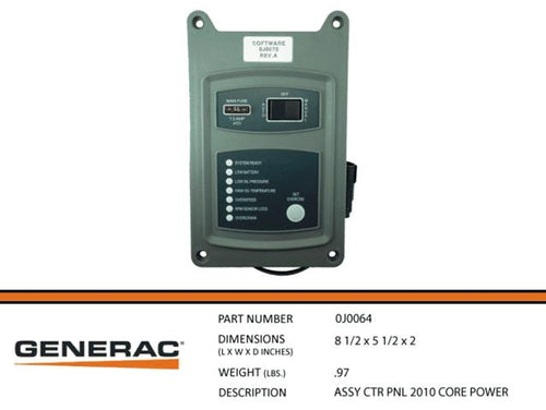 Generac Guardian  ASSEMBLY CONTROL PANAL 2010 CORE POWER  0J0064