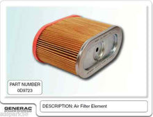Load image into Gallery viewer, Generac Guardian ELEMENT AIR FILTER 0D9723S