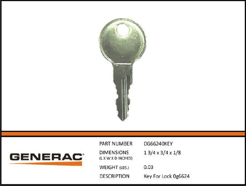 Generac 0G66240KEY Key For Lock 0G6624 set of 2
