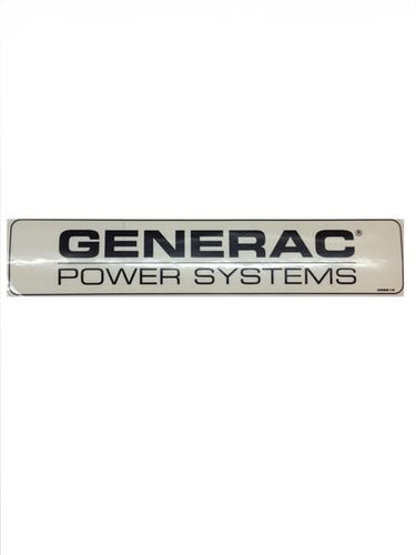 Generac Decal Generac Power Systems Part# 0G8213