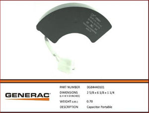 Generac Guardian OEM Capacitor Part#  0G84440101