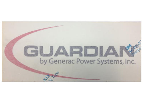 Generac Door Decal , Guardian Part# 0G8667