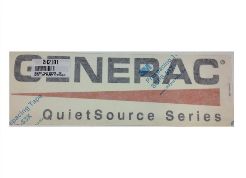 Generac Decal Logo Generac Quiet Source Series Part