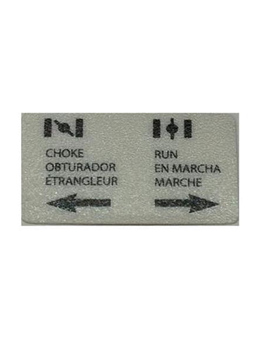 Generac Decal Choke Tri-Lingual Part# 0H2549